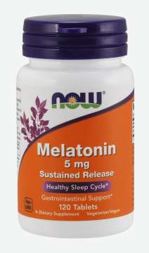 NOW FOODS Melatonin 5mg Sustained Release