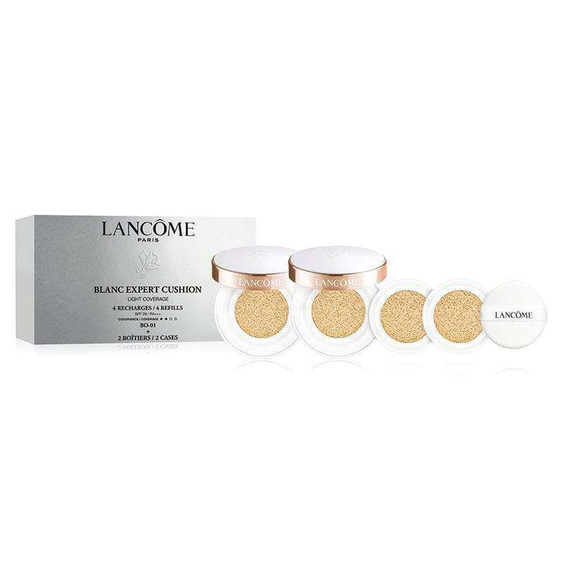 LANCOME BLANC EXPERT CUSHION SET (4 REFILLS + 2 CASES) SPF36/PA+++ 14g*4