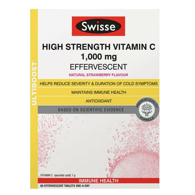 Swisse Ultiboost High Strength Vitamin C effervescent 60'S