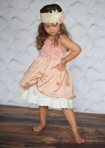 boutique baby girl blush pink dress