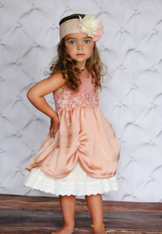 baby girl blush pink dress