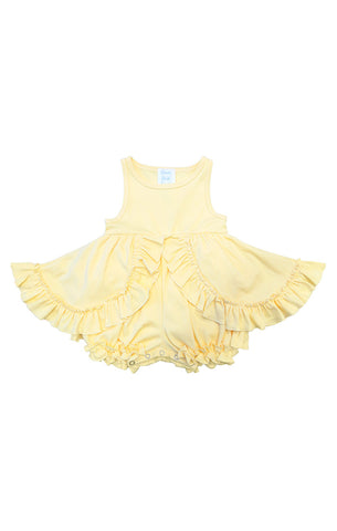 Baby boutique dress with ruffles