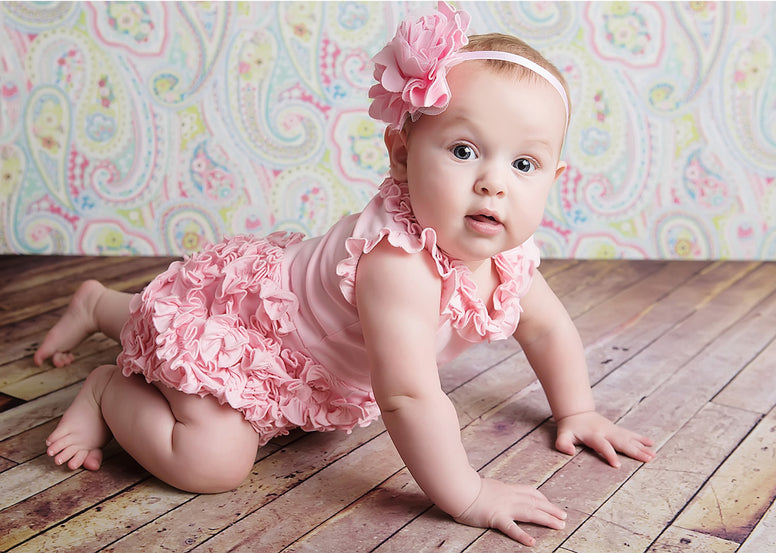 Lemon Loves Layette Rula Romper in pink
