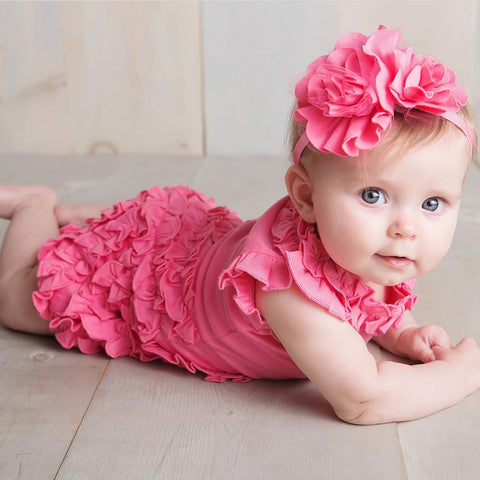 Lemon Loves Layette Rula Romper Pink