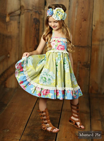 Mustard Pie Apple Blossom Ashton Dress