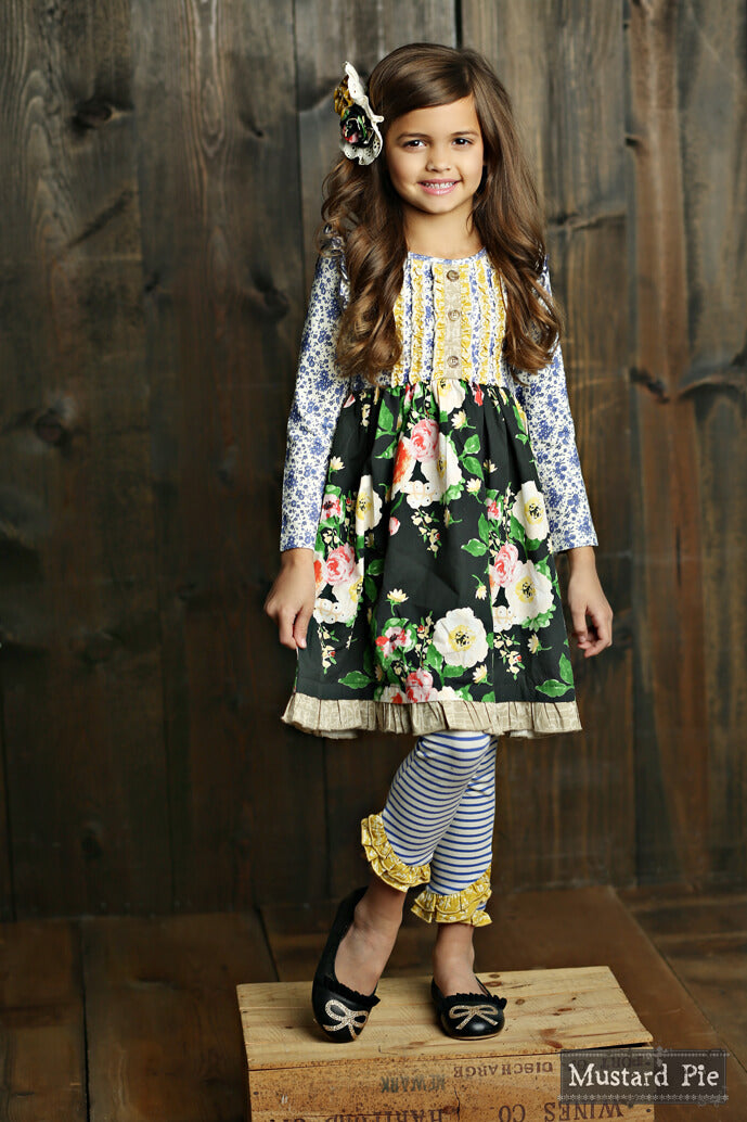 Mustard Pie English Blue Dylan Dress