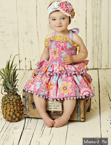 Mustard Pie Summer Magnolia Romper set