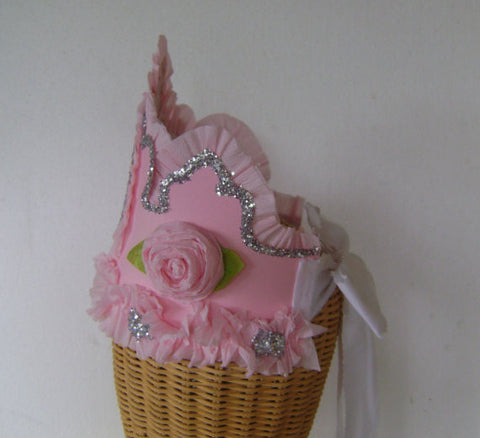 Pink Princess Crown For First Birthday - Pixie Stix Boutique