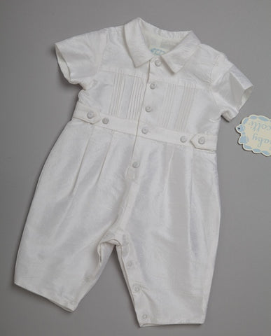 Baby & Apparel & Accessories > Clothing > Traditional & Ceremonial Clothing > Religious Ceremonial Clothing - Biscotti Christening Boy Romper