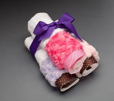 Baby Burping Cloths - Sugar Dots Burp Cloths