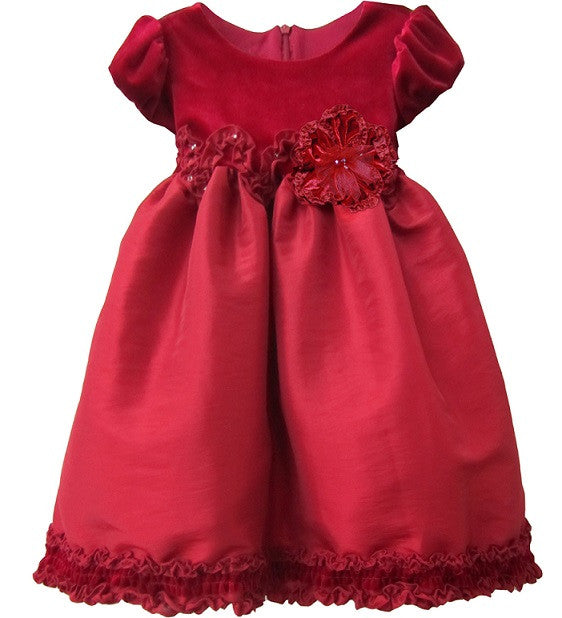 Baby & Toddler Clothing - Isobella And Chloe Monet Red Empire Waist Dress