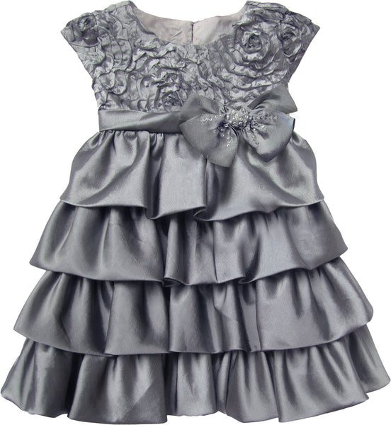 Baby & Toddler Clothing - Isobella And Chloe Silver Empire Waist Dress
