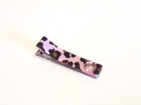 Hair Accessories - Pink Cheetah Print Hair Clip