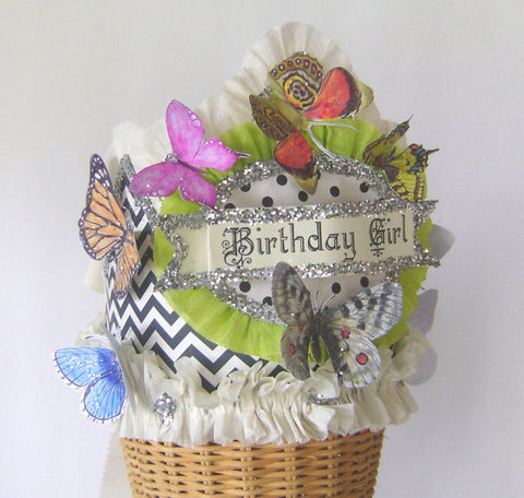Hats - Birthday Girl Crown With Butterflies