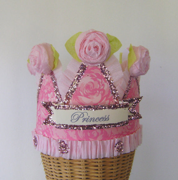 Hats - Pink Princess Crown With Roses