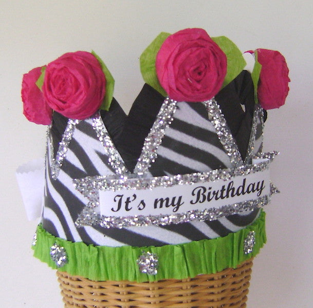 Hats - Zebra Birthday Crown