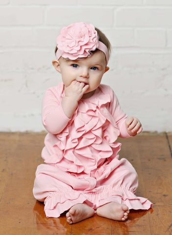 Lemon Loves Layette Angel Gown in Rose Shadow