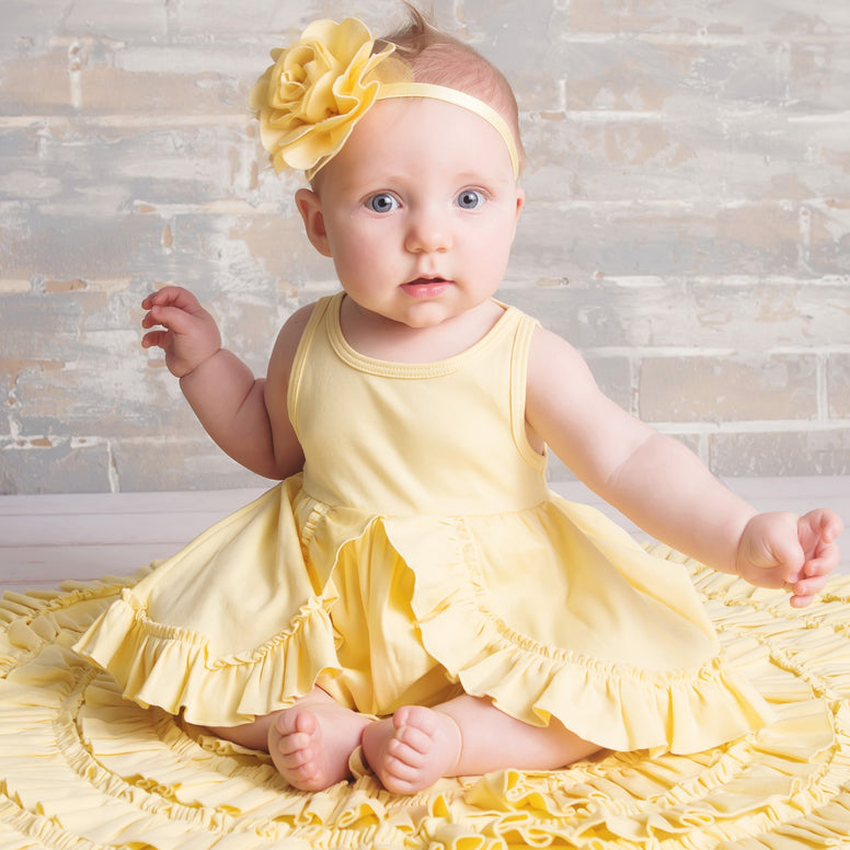 Lemon Loves Layette Calla Dress in Butter