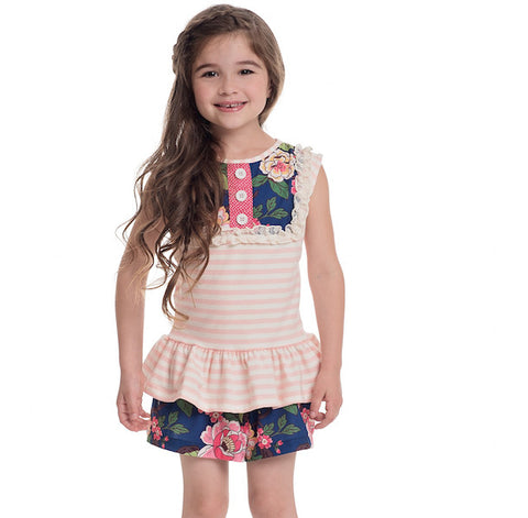 Toddler Outfits - Persnickety Wild Flower Breeze Short