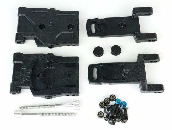 Custom Works Adjustable Rear Arms Modified to fit TLR based cars