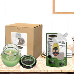 Kit home SPA wellness green tea face & body treatment