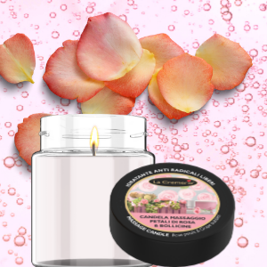 Massage candle Rose Petals and and grape 200ml