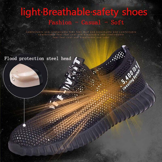 41eb99e4064 Military Grade Steel Toe Air Mesh Breathable Safety Shoes