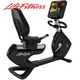 Life Fitness - Platinum Club Series PCSR Discover Recumbent Bike Base, Arctic Silver with SE3 Console