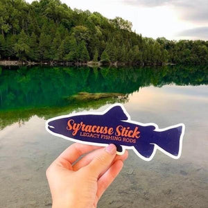 "Syracuse Stick Vinyl Fish Sticker | 6.5"" x 2.5"""