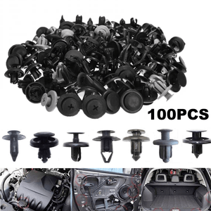 100pcs Mixed Car Bumper Clip Fender Plastic Door Trim Clips Rivet Fastener Retainer Fixing Push Clips Screw Kits