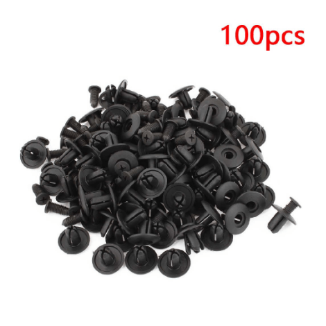 Pack 100Pcs 100pcs Mixed Car Bumper Clip Fender Plastic Door Trim Clips Rivet Fastener Retainer Fixing Push Clips Screw Kits