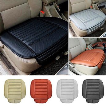 Black 1pc Car Front Seat Cover Breathable PU Leather Seat Pad Mat Cushion