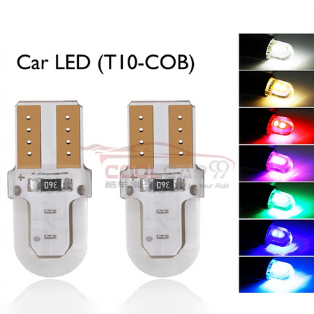 1Pc Cob T10 Led W5W LED Car Parking Lights Clearance Bulbs Interior Dome Plate Light 12V 3030 4smd