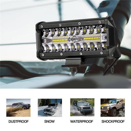 1Pc Fog Lamp Sport light 7 Inch 120W Led Light Bars Spot light Flood Beam For Work Off Road Car Tractor Truck