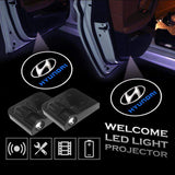 2 Pcs HYUNDAI Car Door Led Welcome Light Projection Lamp Door Light Laser Light Modified Car Door Light