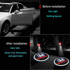 2 Pcs MAZDA Car Door Led Welcome Light Projection Lamp Door Light Laser Light Modified Car Door Light