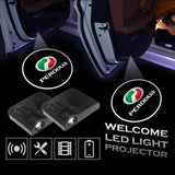 2 Pcs PERODUA Car Door Led Welcome Light Projection Lamp Door Light Laser Light Modified Car Door Light
