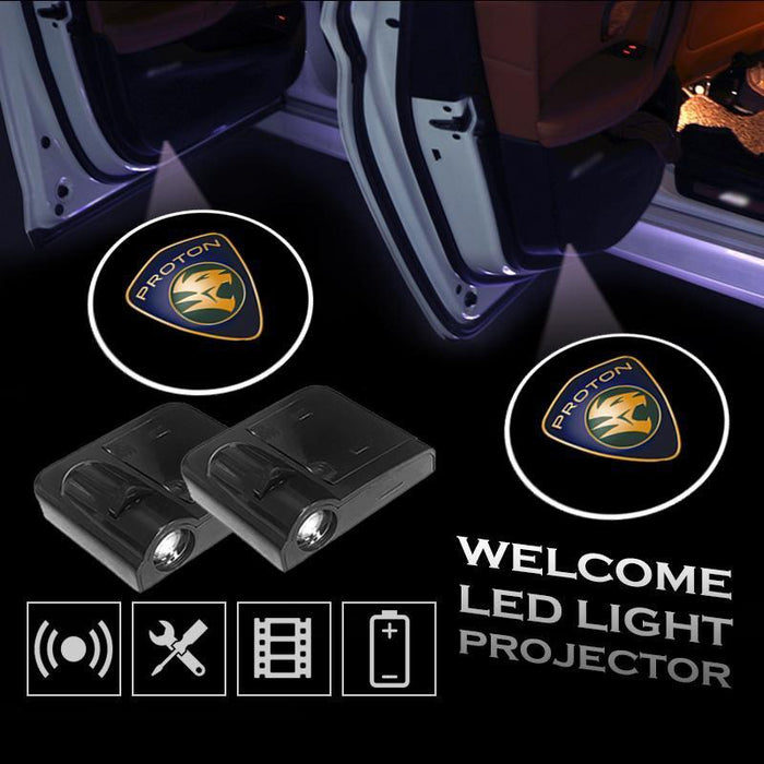 2 Pcs PROTON Car Door Led Welcome Light Projection Lamp Door Light Laser Light Modified Car Door Light