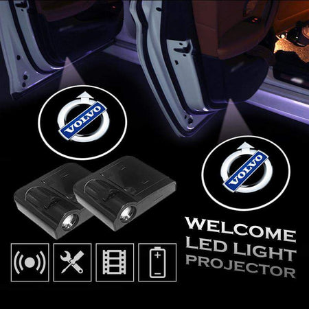 2 Pcs VOLVO Car Door Led Welcome Light Projection Lamp Door Light Laser Light Modified Car Door Light