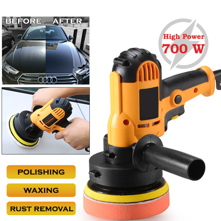 220V 700W 125MM Car Polisher Car Polish Machine Polishing Adjustable Speed Sanding Waxing Grinding Tools