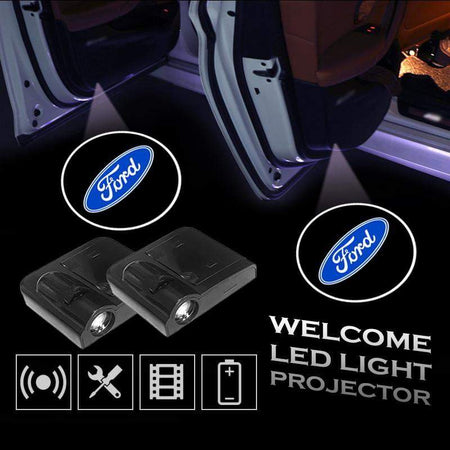 2pcs FORD Car Door Led Welcome Light Projection Lamp Door Light Laser Light Modified Car Door Light