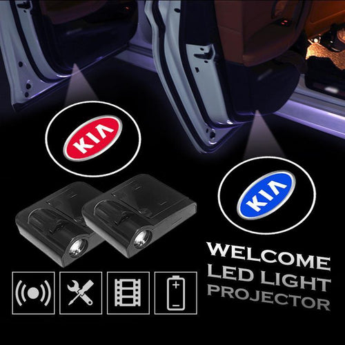 2pcs KIA Car Door Led Welcome Light Projection Lamp Door Light Laser Light Modified Car Door Light