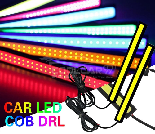 2Pcs LED COB DRL Car Daytime Running Light Waterproof White 17CM