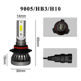9005/HB3 2PCS Mini LED H1 H4 H7 H11 9005 9006 9012 Car Headlight COB Chip 6000K LED Bulbs Super Bright Lamps Fog Light