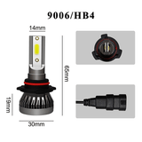 9006?HB4 2PCS Mini LED H1 H4 H7 H11 9005 9006 9012 Car Headlight COB Chip 6000K LED Bulbs Super Bright Lamps Fog Light