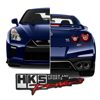 3D Car Badge & Logo HKS Power and Sports 3D Car Badge Emblem Logo