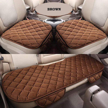 3PCs/Set Car Seat Cushion Non-Slip Cover Kusyen Velvet Plush