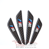 4Pcs BMW M Sports Carbon Fiber Car Door Anti Collision Strip Guards Doors Side Protector