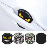 4pcs Monster Car Door Handle Silicone Door Bowl Film Protective Film Door Stickers