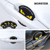 Monster 4pcs Monster Car Door Handle Silicone Door Bowl Film Protective Film Door Stickers